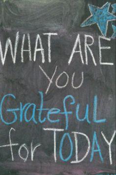 Gratitude : )