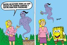 37 New Ideas memes en espanol bob esponja Spanish Puns, Spanish Posters, Funny Spanish, Blonde Jokes, Blonde Guys, Funny Memes, Hilarious, Laugh A Lot, Humor Grafico