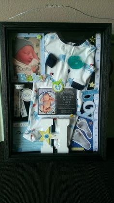 Newborn shadow box.