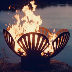Combination Water and Fire Pit | water feature with fire ...