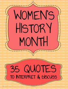 35 Free Women's History Month Activities for Middle School or High School Students. Print these NO PREP task cards for 5 - 15 minute independent writing activities or whole-class discussions. Students paraphrase, interpret, make text connections and discuss inspirational quotes by important female historical figures. These 35 task cards are perfect for 5-10 minute bell ringers, early finisher activities or for any ELA or Social Studies classroom activities for Women's History Month.