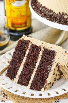 Kahlua Coffee Chocolate Layer Cake - moist soft chocolate cake with Kahlua coffee frosting! Kahlua Coffee Chocolate Layer Cake - moist soft chocolate cake with Kahlua coffee frosting! Best Chocolate, Chocolate Coffee, Homemade Chocolate, Food Cakes, Cupcake Cakes, Just Desserts, Dessert Recipes, Dessert Ideas, Cake Ideas