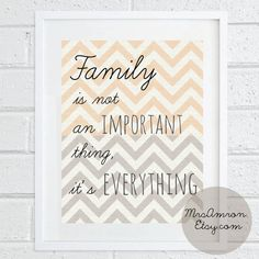 Quote Family Print 8x10  inspirational print / quote print / by MrsAmron, $15.00