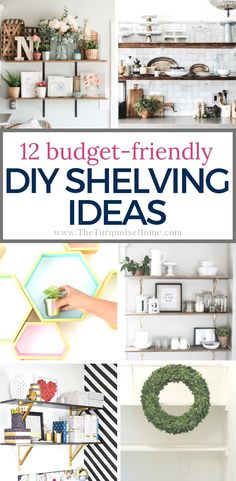 Budget-friendly Cheap DIY Shelving Ideas for your home diyhomedecor woodworkingprojects diy diyprojects diywoodprojects basicwoodworkingprojects shelves shelving diyshelves cheaphomedecor cheapdiy storagesolutions storageideas # Diy Home Decor Rustic, Diy Home Decor On A Budget, Cheap Home Decor, Decorating Your Home, Budget Decorating, Diy Projects Shelves, Diy Projects On A Budget, Home Projects, Diy Tumblr