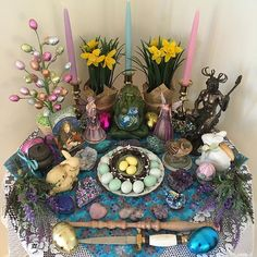My Ostara Altar :)                                                                                                                                                     More