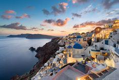 One of the most beautiful sunsets in the world. Santorini, Greece