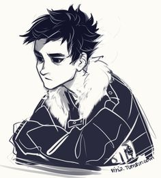 Nico di Angelo with short hair. I actually REALLY like it!! :D