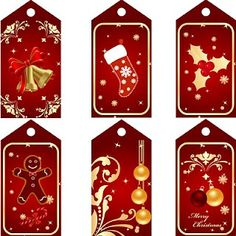 "Free Printable Red Christmas Tags 300 DPI (Free for personal use only. From http://www.sherykdesigns-blog.com.  ""Password: skhedrdesigns"")"