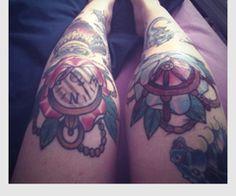 Traditional Knee Tattoo Designs