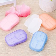FEATURES: Useful design and high quality Convenient to take and easy to use Good for travel, camping, hiking, BBQ or other outdoor activities Made from soap with plastic box Good item in daily life SPECIFICATIONS: Material: High-quality PP5 Size: 6cm*4cm Weight: 14g 1 box soap paper/20pcs (random) Washing Soap, Hand Washing, Plastik Box, Soap Boxes, Bath Soap, Schaum, Innovation Design, Hand Sanitizer, Just In Case