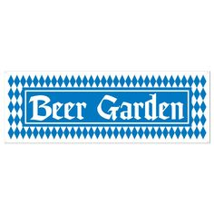 Set the perfect scene for an Oktoberfest celebration with our allweather Beer Garden Banner featuring the ever popular Bavarian blue and white diamond pattern perfect for decorating doors and more at any Oktoberfest event This Beer Garden Banner measures 5ft x 21in and comes 1 banner per package