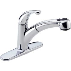 Delta Palo Chrome 1-Handle Pull-Out Kitchen Faucet
