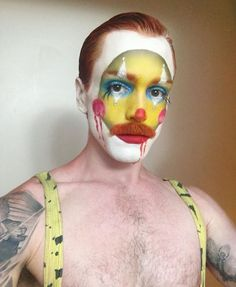 Drag Makeup, Male Makeup, Clown Makeup, Halloween Makeup, Makeup Inspo, Makeup Inspiration, Makeup Tips, Circus Fashion, Fashion Art