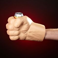 Tired of your canned drinks getting warm while you hold them? Let us give you a hand - a GIANT hand! Our Incredible Giant Fist can cooler is the ultimate party accessory. Whether you re tailgating at the big game or hanging out with friends, this hilarious drink holder will keep the laughs coming and your drinks cold. The Incredible Giant Fist can cooler fits any standard-sized can and is made of a durable, washable foam.