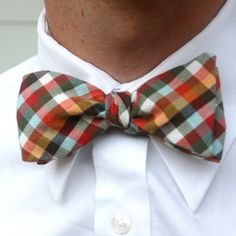Normally I'm not a fan of novelty bow ties, but this plaid one is a notable exception.
