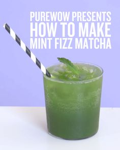 Learn how to make a refreshing mint matcha fizz here. Save and sip.