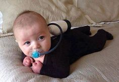 Diving Baby Costume... Lol so cute!