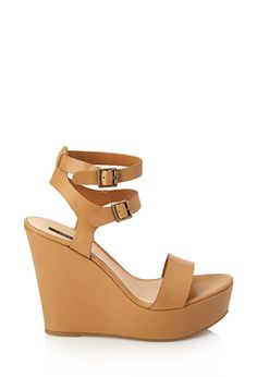 Faux Leather Wedge Sandals   FOREVER21 - 2000069517#SummerForever #F21xMe