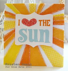 Catch Some Rays Card from #GlueArts Designer @Kristen Swain using #Echo Park Paper's Splash collection and #GlueArts 3D Combo Pac.