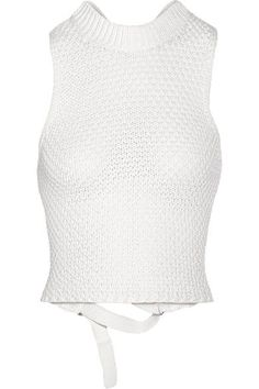3.1 Phillip Lim - Crocheted Cotton-blend Top - Off-white -