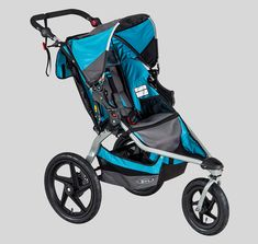 Jogging stroller with a 70-lb. (child and cargo) weight capacity