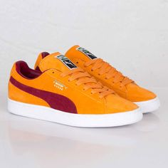 2290a91300c Puma Suede Classic Bright Marigold   Pomegranate Yellow Sneakers