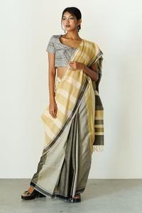 Urban Drape Yellow Reflections – Fashion Market.LK Metallic Blouses, Iron Steamer, Sari, Urban, Chic, Yellow, Model, Jackets, Black