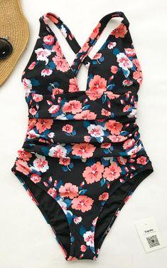 97a2d22304 Cupshe - Flashing Spray Print One-piece Swimsuit - Look fabulous for the  your holiday trip in this bikini set.