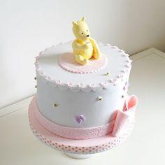classic pooh fondant cakes | angle... Classic Winnie the Pooh baby shower cake - chocolate cake ...