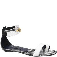 Vionnet black white and transparent sandal from spring summer 2014. Www.wunderl.com