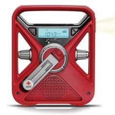 The Best Emergency Radio crank or solar -charging usb ports - flashlight etc