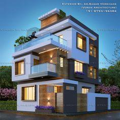36 Ideas For Exterior Design House Front Elevation Bungalow House Plans, Bungalow Homes, Modern House Plans, House Paint Exterior, Exterior House Colors, Bungalow Exterior, House Front Design, Modern House Design, Modern Exterior
