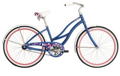Raleigh's Women's Retroglide bike is a classic cruiser that's sure to take you back to a simpler time. With its vintage styled aluminum frame, rust-resistant wheels and one-speed drivetrain, the Retroglide is built for easy, casual cruising. Raleigh Bicycle, Raleigh Bikes, Bicycles For Sale, Vintage Bikes, Woman Beach, Cool Bikes, Mtb, Vintage Fashion, Classic