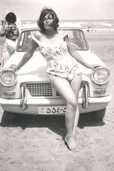 Before the Chador, a photo exhibit of pre-revolution Iranians. Seaside weekend (Caspian Sea, 1963)