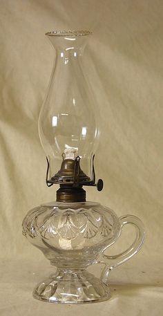 EAPG Erin Fan Pattern Kerosene Finger Lamp