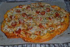 Mi Diversión en la cocina: Pizza vegetal con nata
