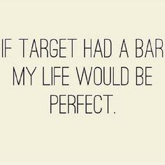 If Target had a bar...