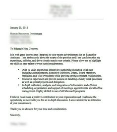 correct format for cover letter