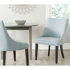 Afton Light Blue Side Chair (Set of 2) | Overstock.com Shopping - Great Deals on Safavieh Dining Chairs