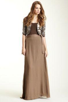 Paper Crown Twain Silk Maxi Skirt