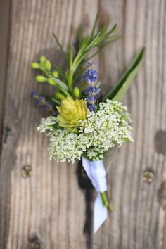 #Hops and #Lavender #Boutonniere // ThreeLeafFloral.com