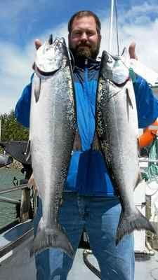 #GoAltaCA   Fishing the North Coast: Eureka kings flying over the rails - Chris Beard of Eureka landed his first pair of kings last weekend while fishing off the coast of Eureka. The salmon bite has been wide-open this week, with most anglers quickly landing their two-king limit.