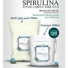 Refill Zipper pack 2500ml SPIRULINA Masque Powder Modeling Mask Pore Home Care #Anskin