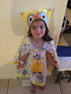 Owl car seat poncho with hat
