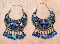 Afghan earrings, Kuchi earrings, turkmen earrings, Tribal earrings, Ethnic earrings