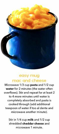 Easier Than EZ Mac! Mug macaroni and cheese - all in the microwave.
