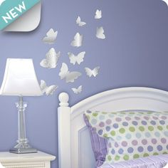 Beautiful Wall Decals and Stickers for Teens with Butterfly Motif by Lot 26