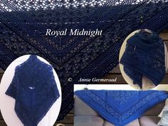 Royal Midnight Shawl,. door Annie Germeraad
