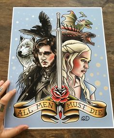 New Game of Thrones print! www.etsy.com/shop/parlortattooprints