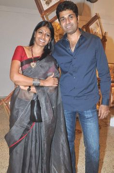 Actress Nandita Das with Husband Subodh Maskara